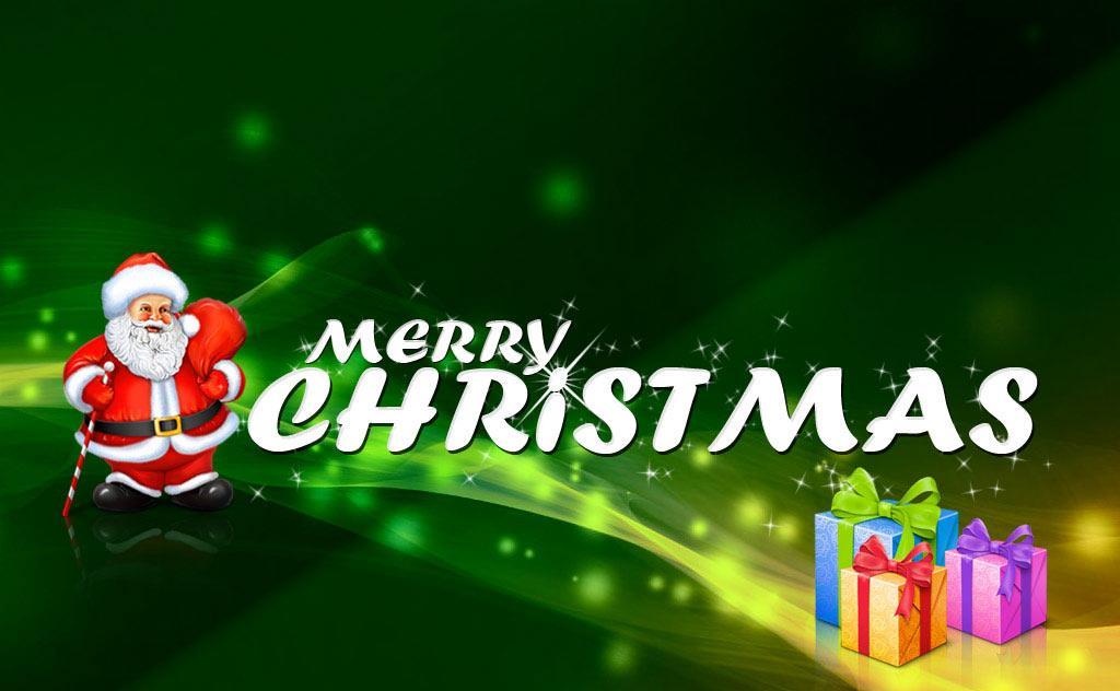 Santa Claus Wishing You Merry Christmas