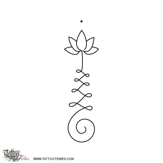 Simple lotus outline