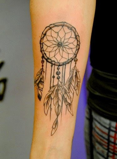 Simple Dream Catcher Tattoos Simple Dreamcatcher Tattoo On Right Forearm 31