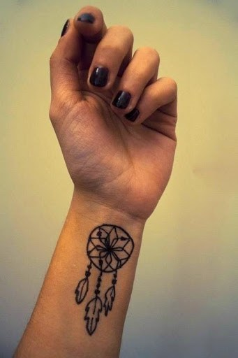 Small Dreamcatcher Tattoo On Left Wrist
