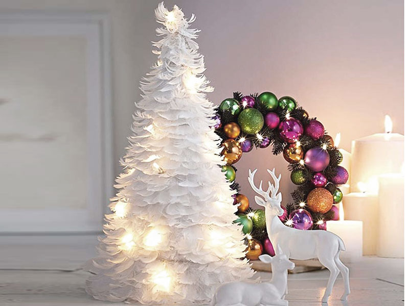 The Feather Girl Christmas Decoration Idea Idea