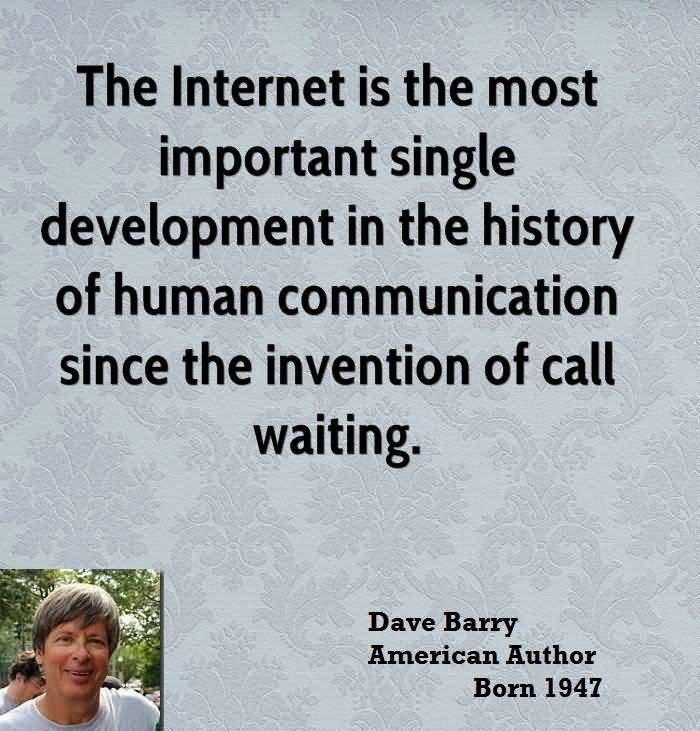 internet the most important invention essay Free essay: from ancient mesopotamia came a revolutionary tool that has crystallized the world into the complex civilization it is today, the wheel the.