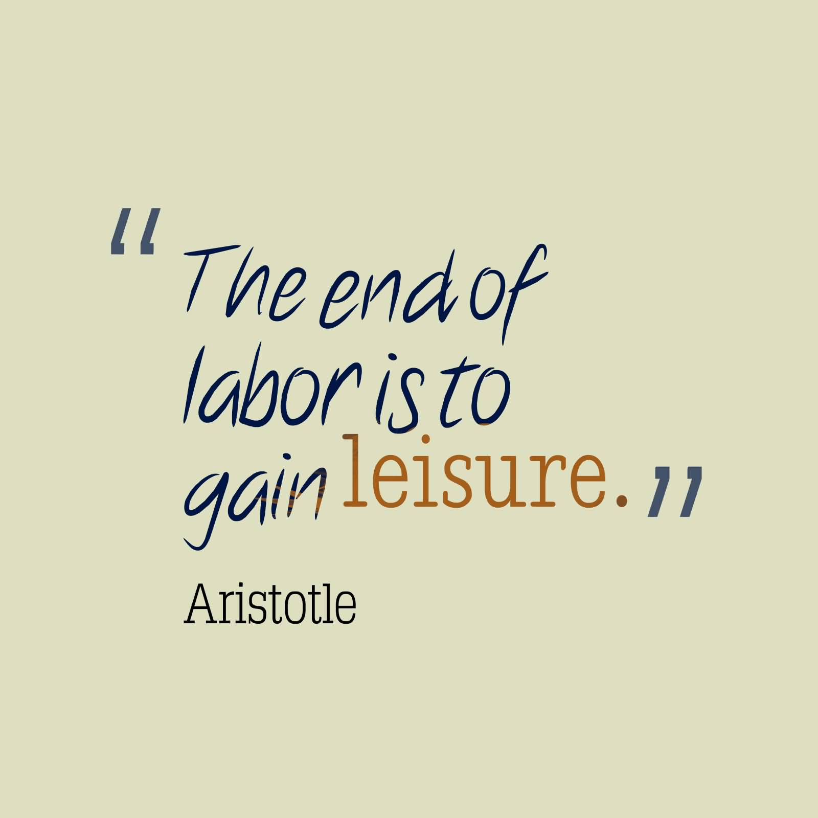 Leisure Sayings