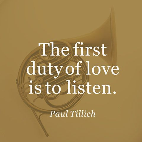 the first duty of love is to listen essay Note: i publish every single mission statement that is provided to me by my students i do not pick and choose the ones i post here if you are willing to share your.