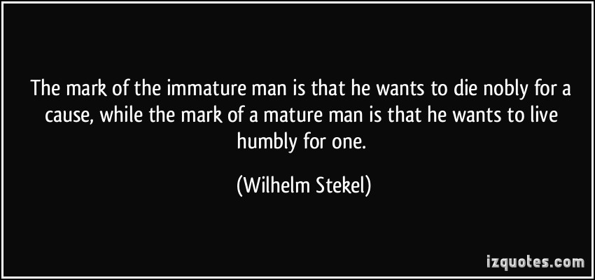 quotes about immature men