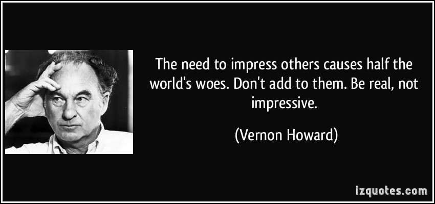 Image result for need to impress others