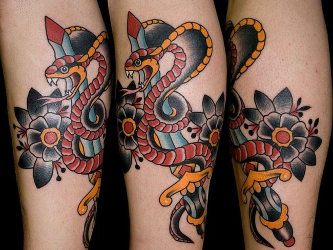 44 snake and dagger tattoos ideas. Black Bedroom Furniture Sets. Home Design Ideas