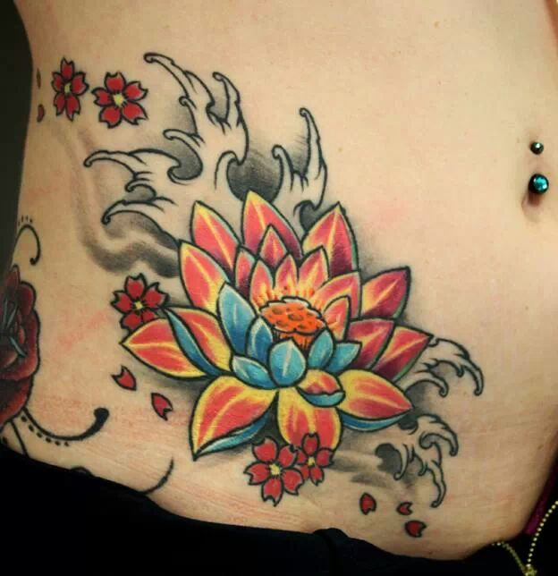 21 Best Lotus Tattoos On Hip