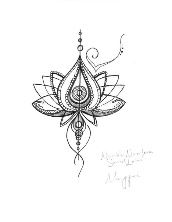 Unique abstract lotus flower tattoo design mightylinksfo