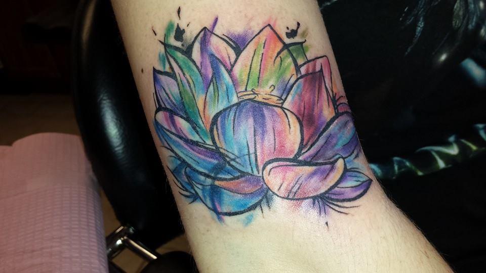 49 Watercolor Lotus Tattoos Ideas
