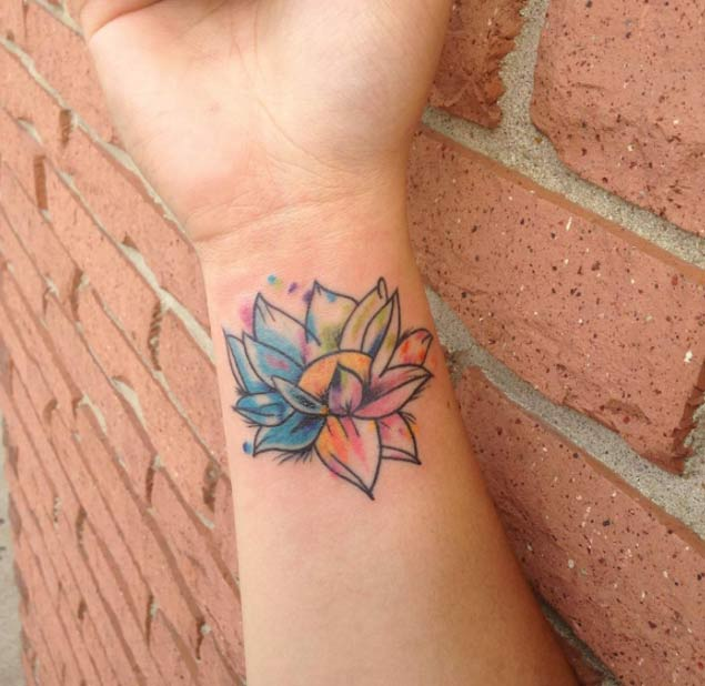 49 Watercolor Lotus Tattoos Ideas