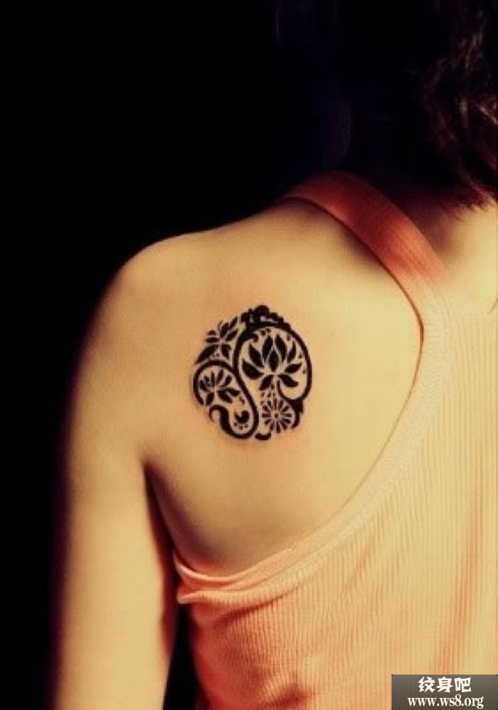 28 tribal lotus tattoos collection for Lotus flower tattoo on shoulder