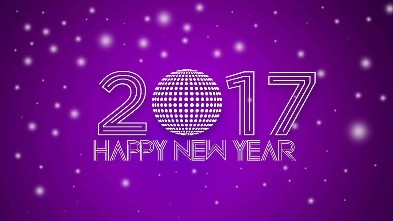 2017 happy new year purple background