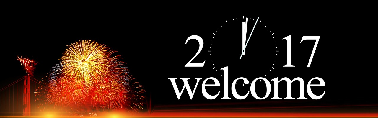 2017 Welcome Happy New Year Facebook Cover Photo