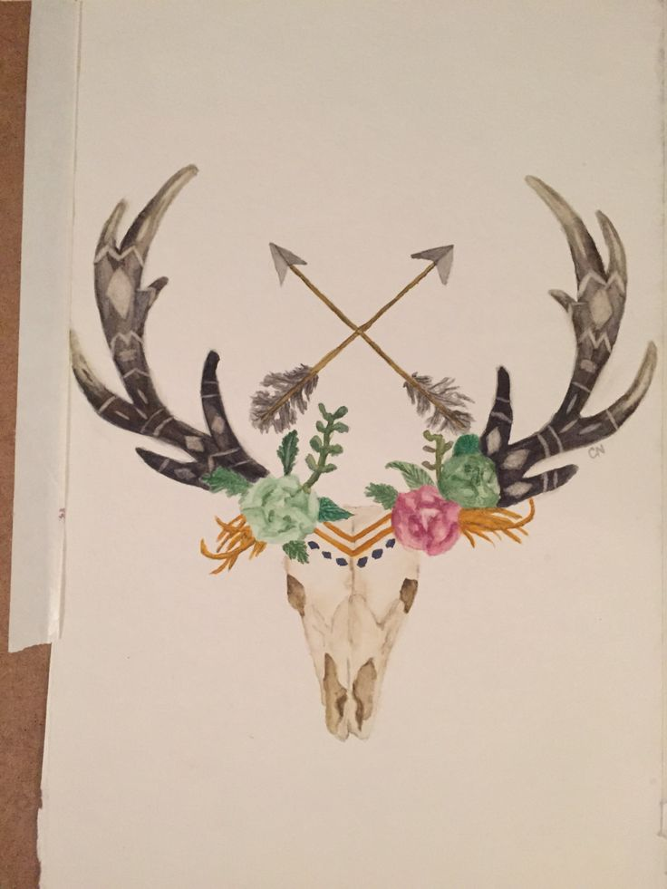 545360cf9fe5a 23+ Deer Antler Tattoos Designs And Stencils