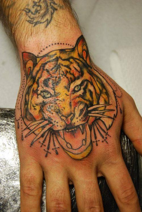 59 tiger face tattoos designs ideas for Asian face tattoos