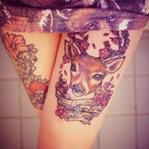 Deer Tattoos For Girls : Deer tattoos ideas for women