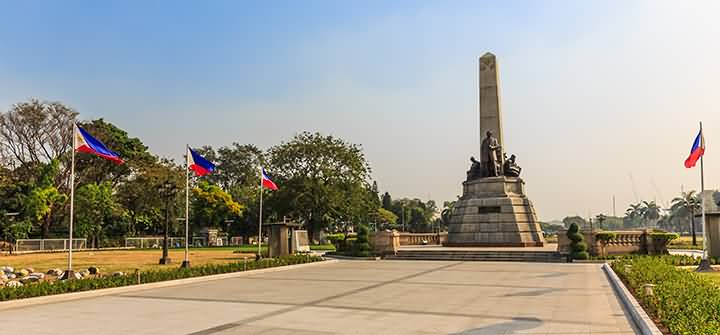 Evening View Of Monument At Rizal Park