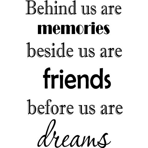 Pictures Make Memories Quotes: Behind Us Are Memories. Beside Us Are Friends. Before Us