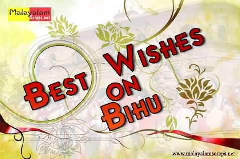 Best wishes on bihu greeting card m4hsunfo