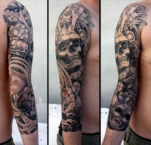 42+ Samurai Skull Tattoos & Designs