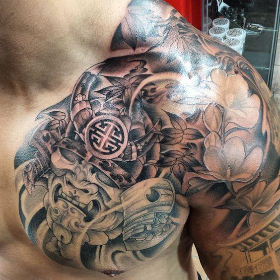 21 Best Samurai Chest Tattoos & Designs