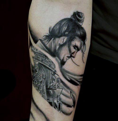 27 Samurai Forearm Tattoos, Designs & Ideas