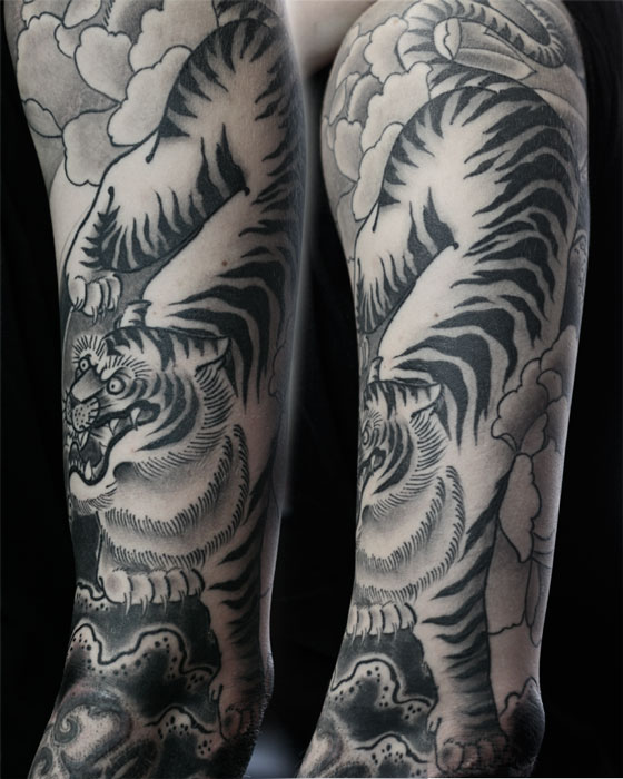 4025f61bac734 66+ Black And Grey Tiger Tattoos Collection