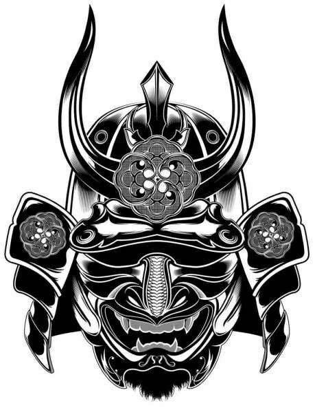 33 Samurai Head Tattoos Designs