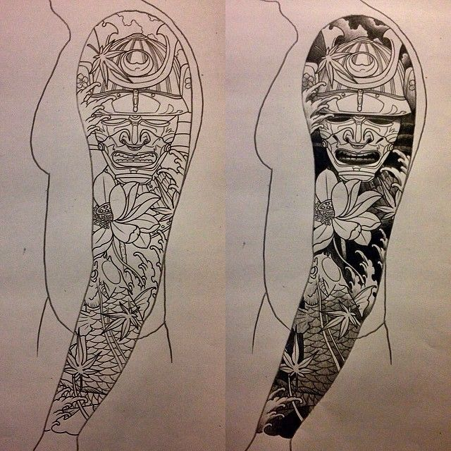60 samurai tattoos ideas meanings and designs. Black Bedroom Furniture Sets. Home Design Ideas