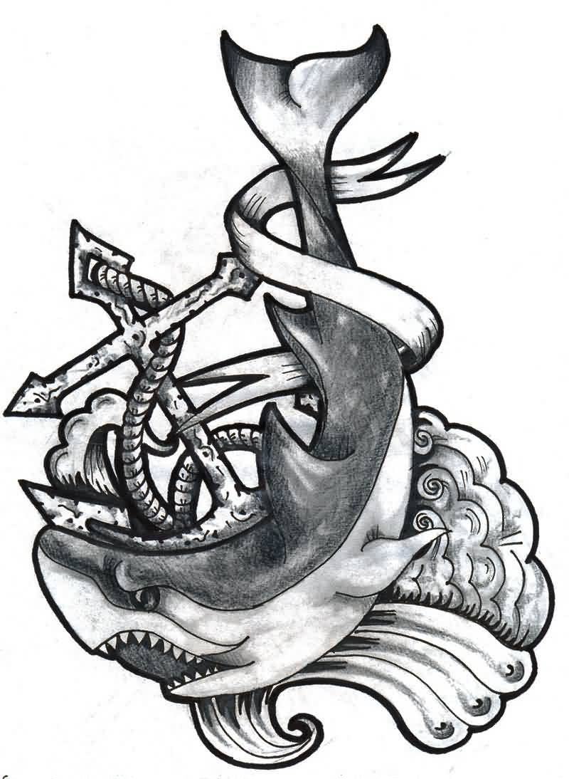 This is a photo of Rare Shark Tattoo Drawing