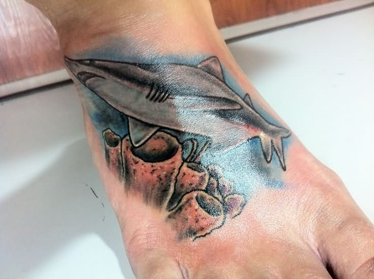 40 tiger shark tattoos designs ideas. Black Bedroom Furniture Sets. Home Design Ideas