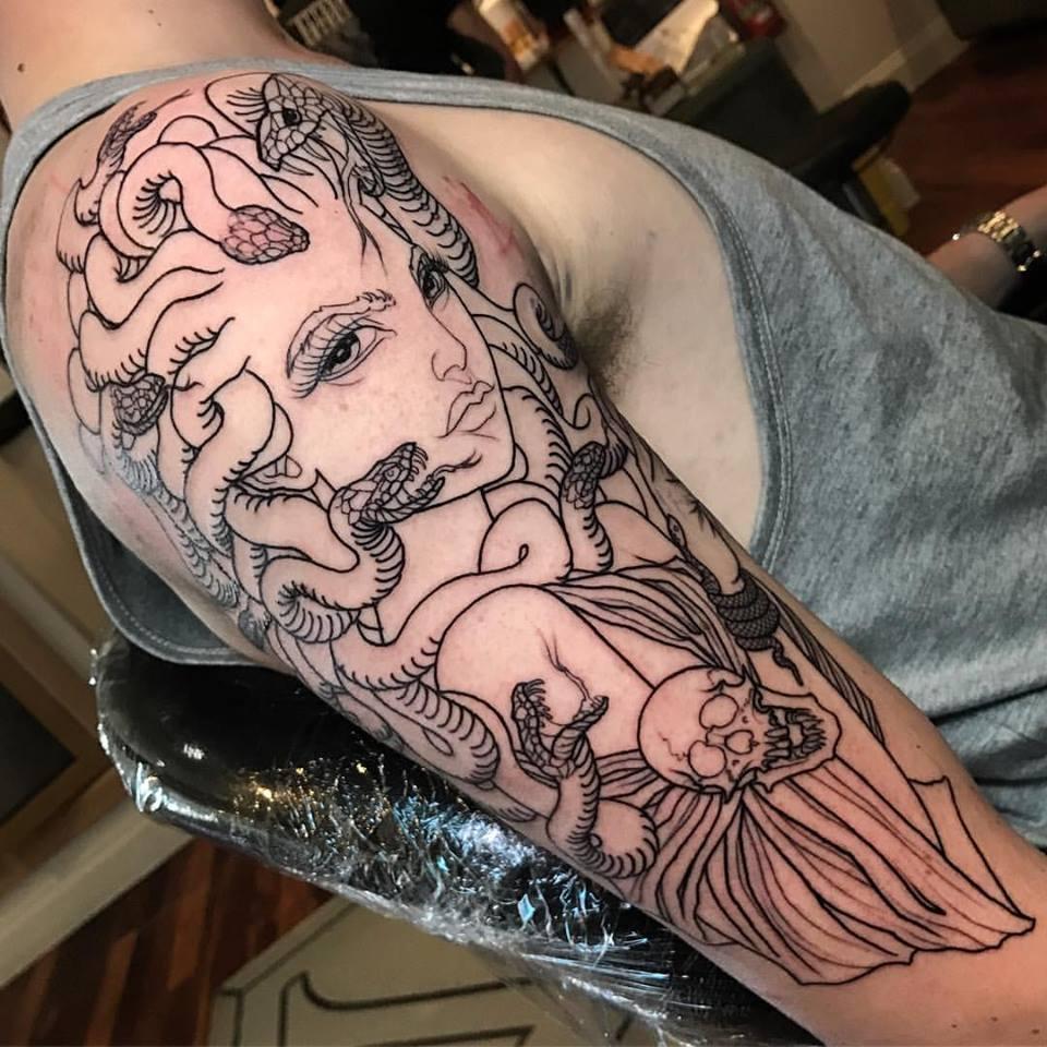 Black Medusa Tattoo: Medusa Tattoos
