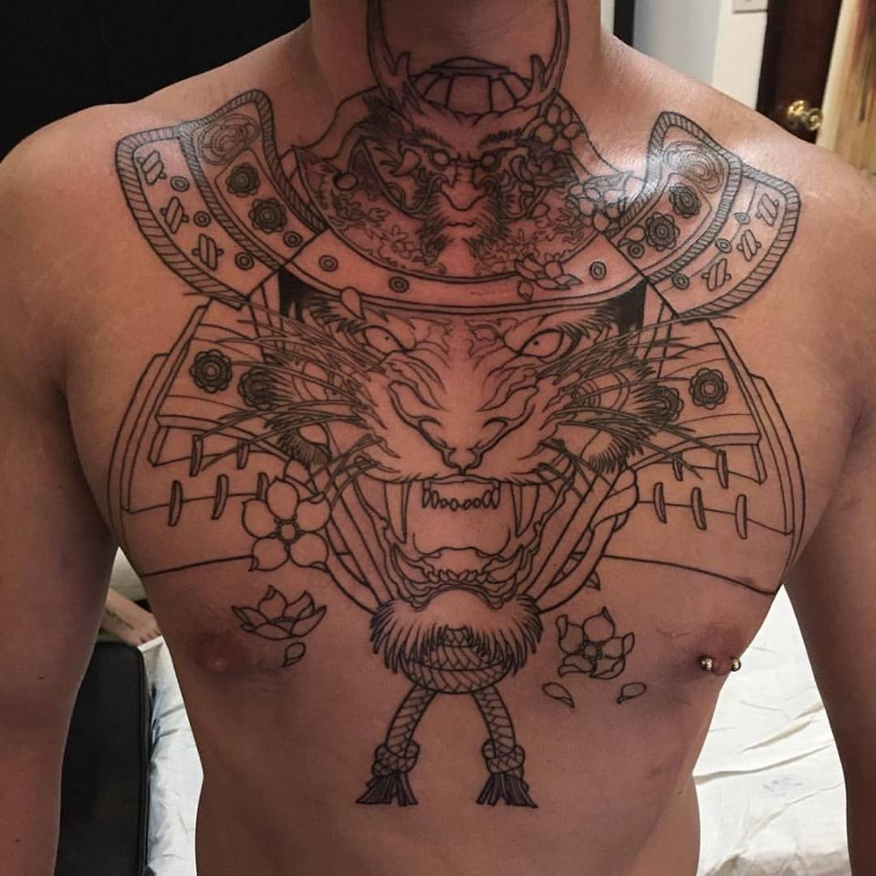 Chest tattoos for Full head tattoo