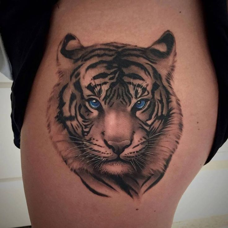 Beautiful Tiger Tattoo Design On Thigh: 53+ Tiger Tattoos And Designs For Thigh