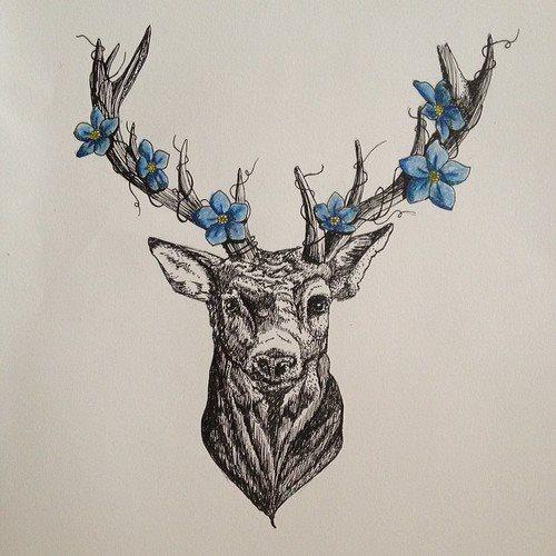 59+ Best Geometric Deer Tattoos