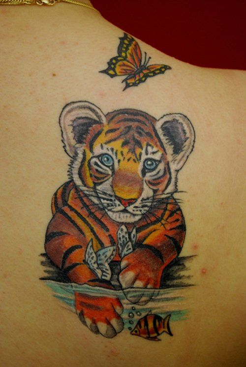 61 all time best tiger tattoos designs with meanings. Black Bedroom Furniture Sets. Home Design Ideas