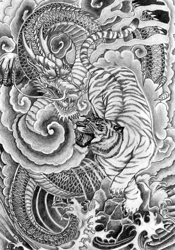 3c2c9effe Chinese Tiger Tattoo Design by Chris Garver