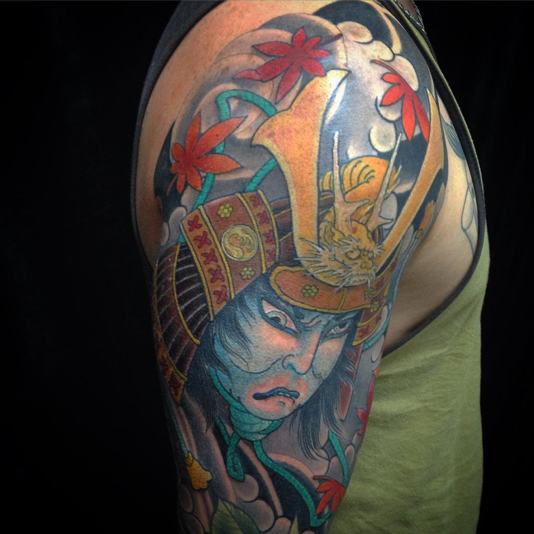 Tattoo Designs Japanese Warrior: 50+ Samurai Warriors Tattoos, Ideas And Meanings