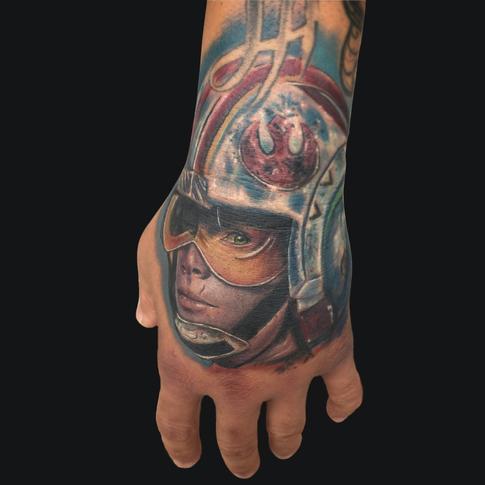 gas mask tattoo on man head. Black Bedroom Furniture Sets. Home Design Ideas