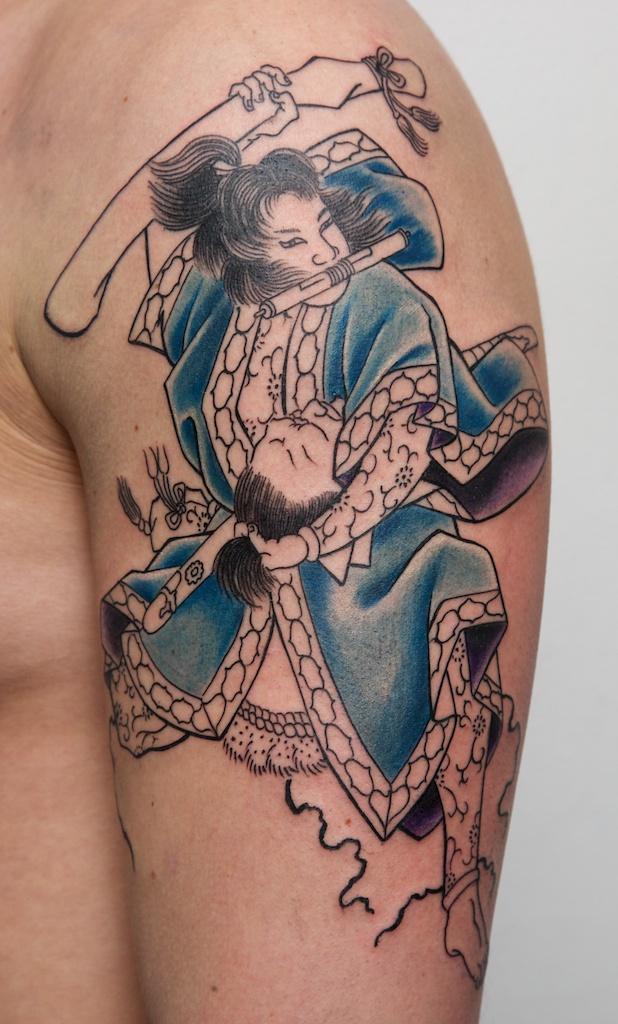 Traditional Samurai Tattoos Ideas - Best traditional samurai tattoo designs meaning men women