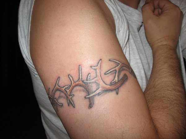 58+ Deer Antler Tattoos Collection With Meanings