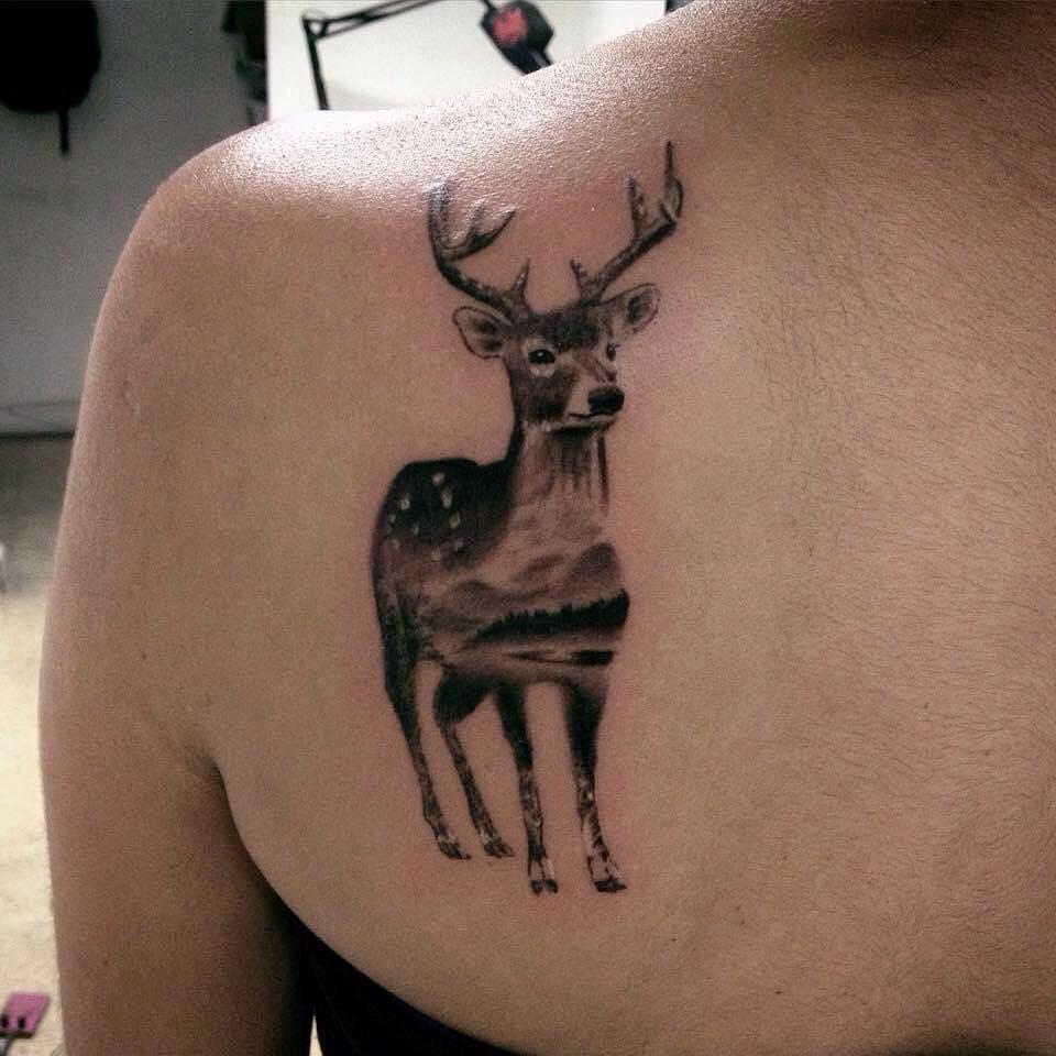 26 Deer Tattoos: Daniel Rozo Tattoos
