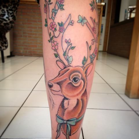35+ Cute Deer Tattoos Collection