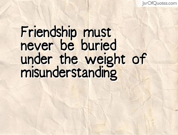 Quotes About Friendship Misunderstanding Interesting 62 All Time Best Misunderstanding Quotes And Sayings