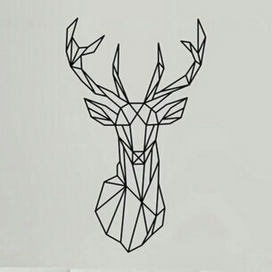 59 best geometric deer tattoos for Ecran graphisme