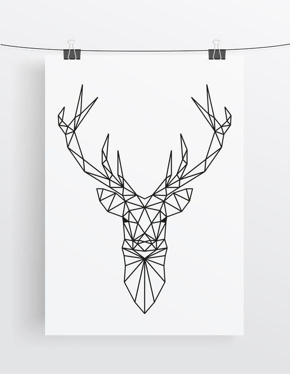 59 best geometric deer tattoos. Black Bedroom Furniture Sets. Home Design Ideas