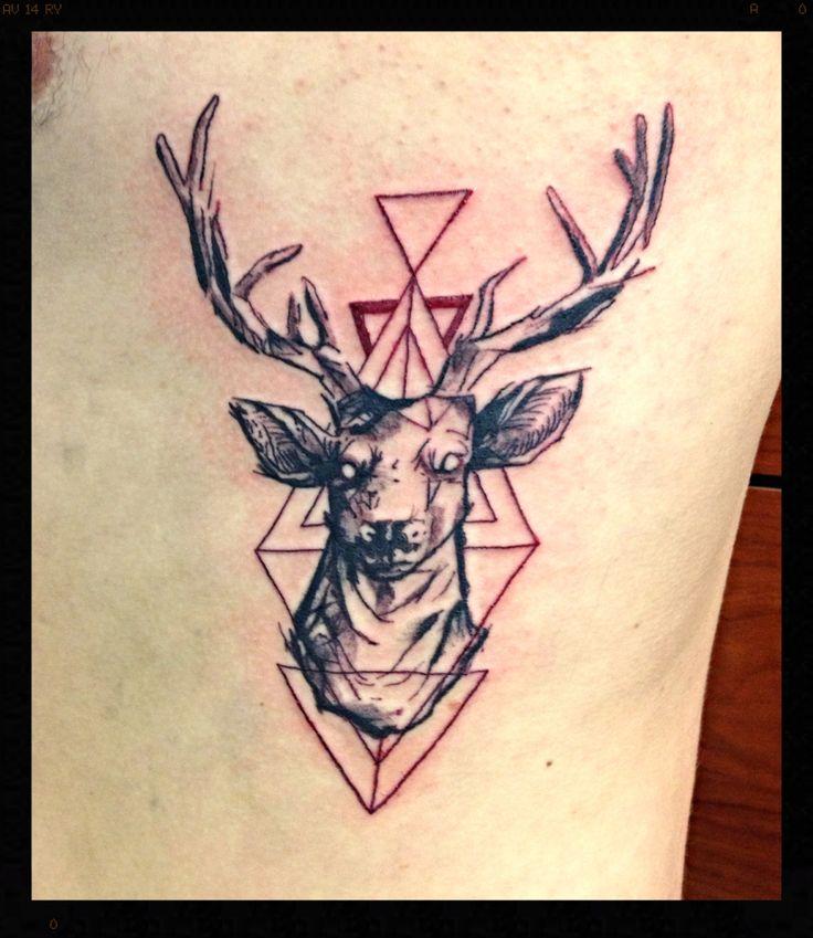 59 Best Geometric Deer Tattoos