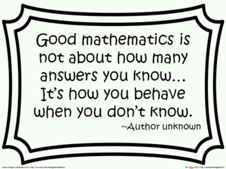Quotes Math Learning