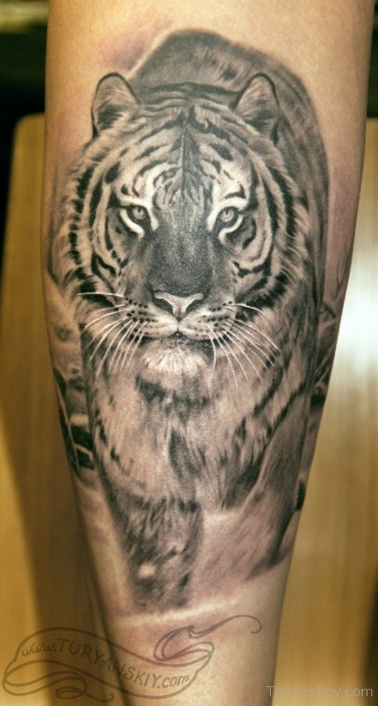 Japanese tiger tattoo on side rib for Tiger thigh tattoos